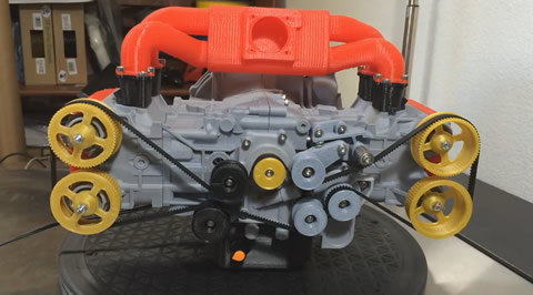 3D Printed Subaru EJ20 WRX Engine