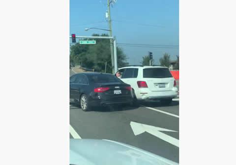 SUV Driver Scares Everyone Around
