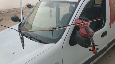 Car Plays the Violin