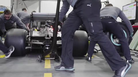 F1 Pit Stop with 2017 Tyres