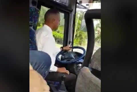 bus driver changes gears gentle