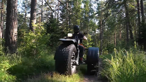 Simple and cheap ATV ZID Barchan