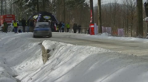 Rally Car Rescued from Ditch