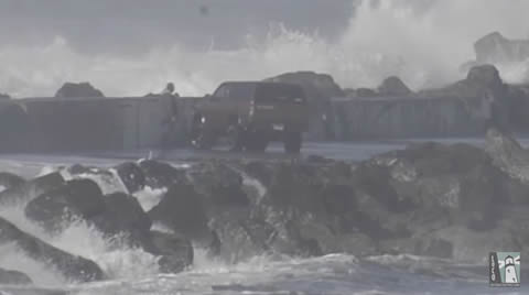 Driving on Humboldt Bay's North Jetty is Not Advised