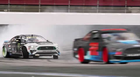 Drift the NASCAR Mustang