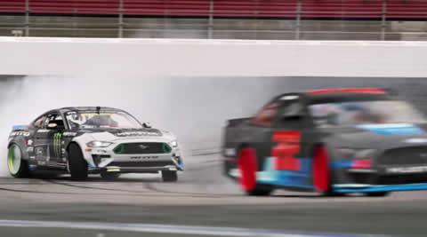 Drift the NASCAR Mustang