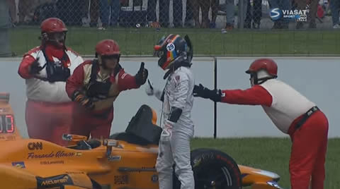Indy 500 Fernando Alonso Out