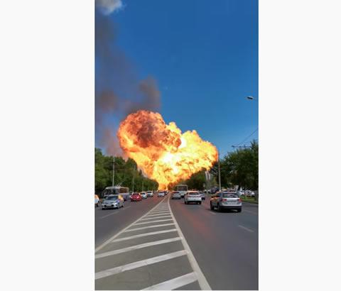 おそロシア またもガソリンスタンドが大爆発