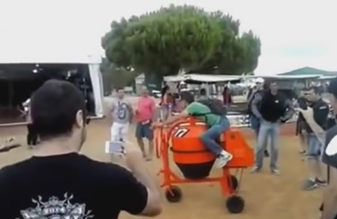Funny Motorcycle Made From Concrete Mixer