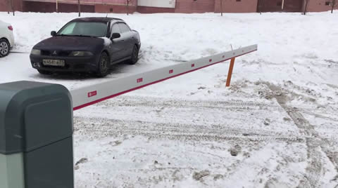 When it's so cold that even barrier is shaking