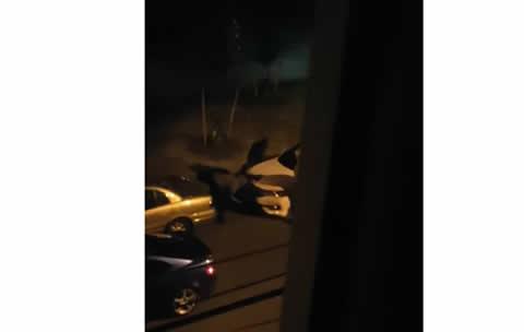 Suspicious Men Strip Car of Wheels
