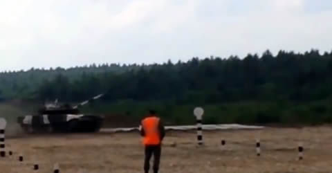 Tank Flips While Trying To Show Off Drifting Skills