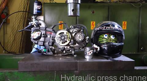 Crushing running 4-stroke motor