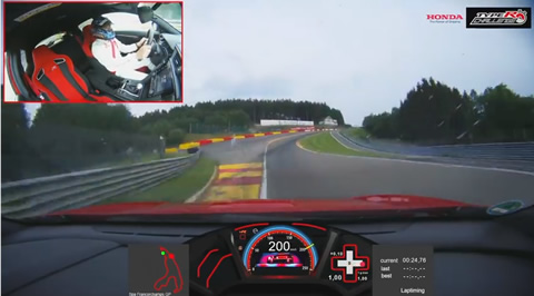 Honda Civic Type R achieves fastest lap record at Spa