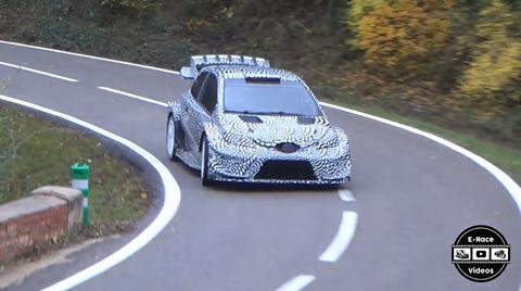 Test Toyota Yaris WRC Ogier 2017
