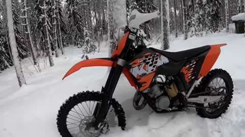 Deep Snow KTM SX 125