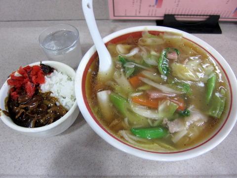 広東麺とカレー