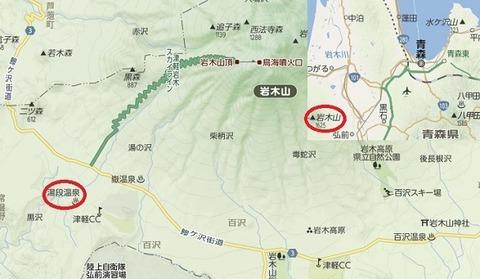 湯段温泉 地図