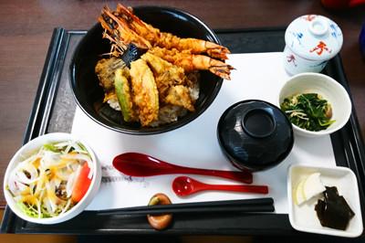 海月海老天丼ランチ1
