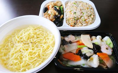 向陽飯店 海鮮ラーメン 炒飯プレート1