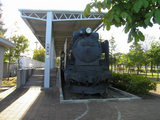 佐呂間駅跡にある蒸気機関車