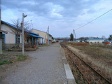 境野駅ホーム跡