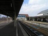 室蘭本線・伊達紋別駅ホーム