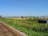 北秩父別駅ホームからの眺め