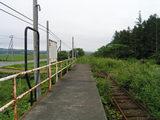 ふるさと銀河線・大森駅ホーム(廃止後)