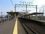 千歳線・恵み野駅ホーム
