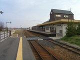 訓子府駅ホーム