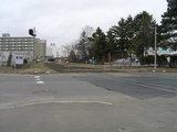 ハッカ記念館前の踏切跡
