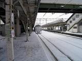 函館本線・深川駅に到着