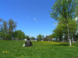 石狩当別駅前の公園