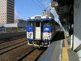 苫小牧駅から発車する日高本線の車両