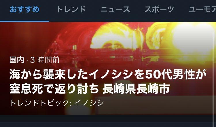 長崎イノシシ返り討ち