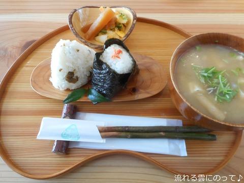 味噌漬け混ぜ込み&鮭のり&手作り味噌汁
