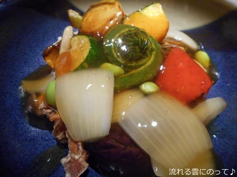 鶏と豆腐の唐揚げ~十二品目の野菜餡掛け~