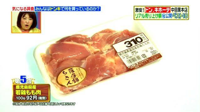 第5位 鹿児島 若鶏もも肉