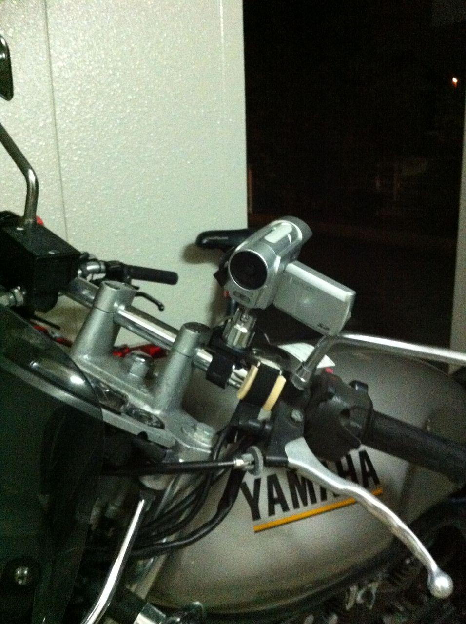 ... バイク用カメラマウント自作