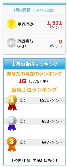 ABCDTask 1月の獲得ランキング