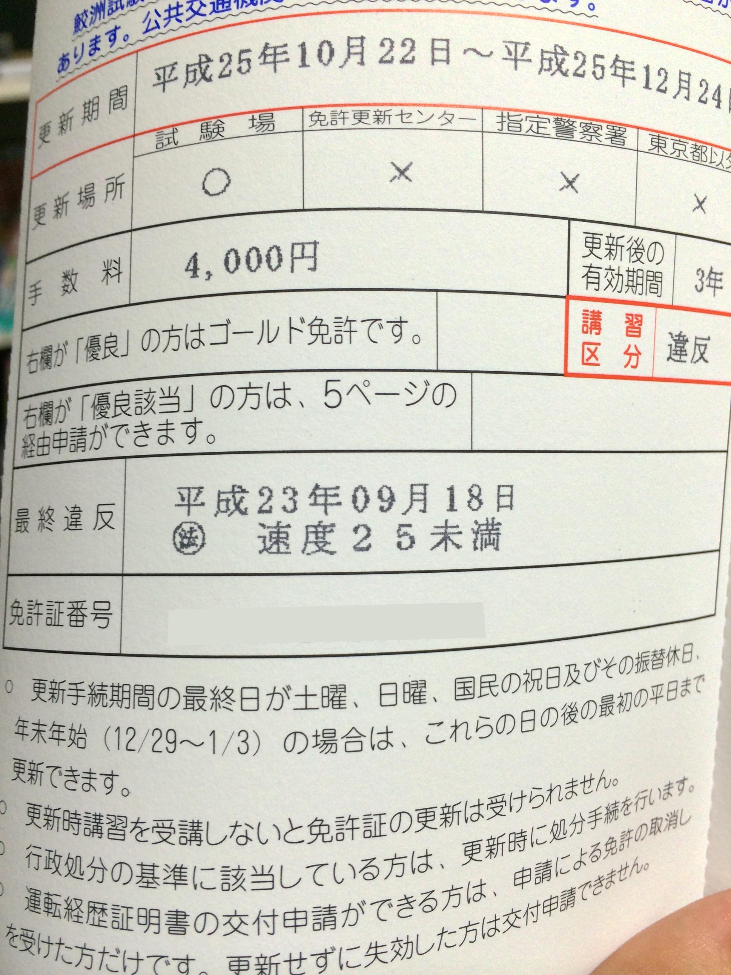 更新 免許 江東 試験場