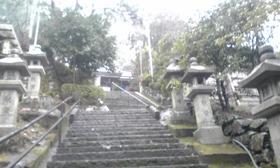 飯室谷不動堂本堂への階段