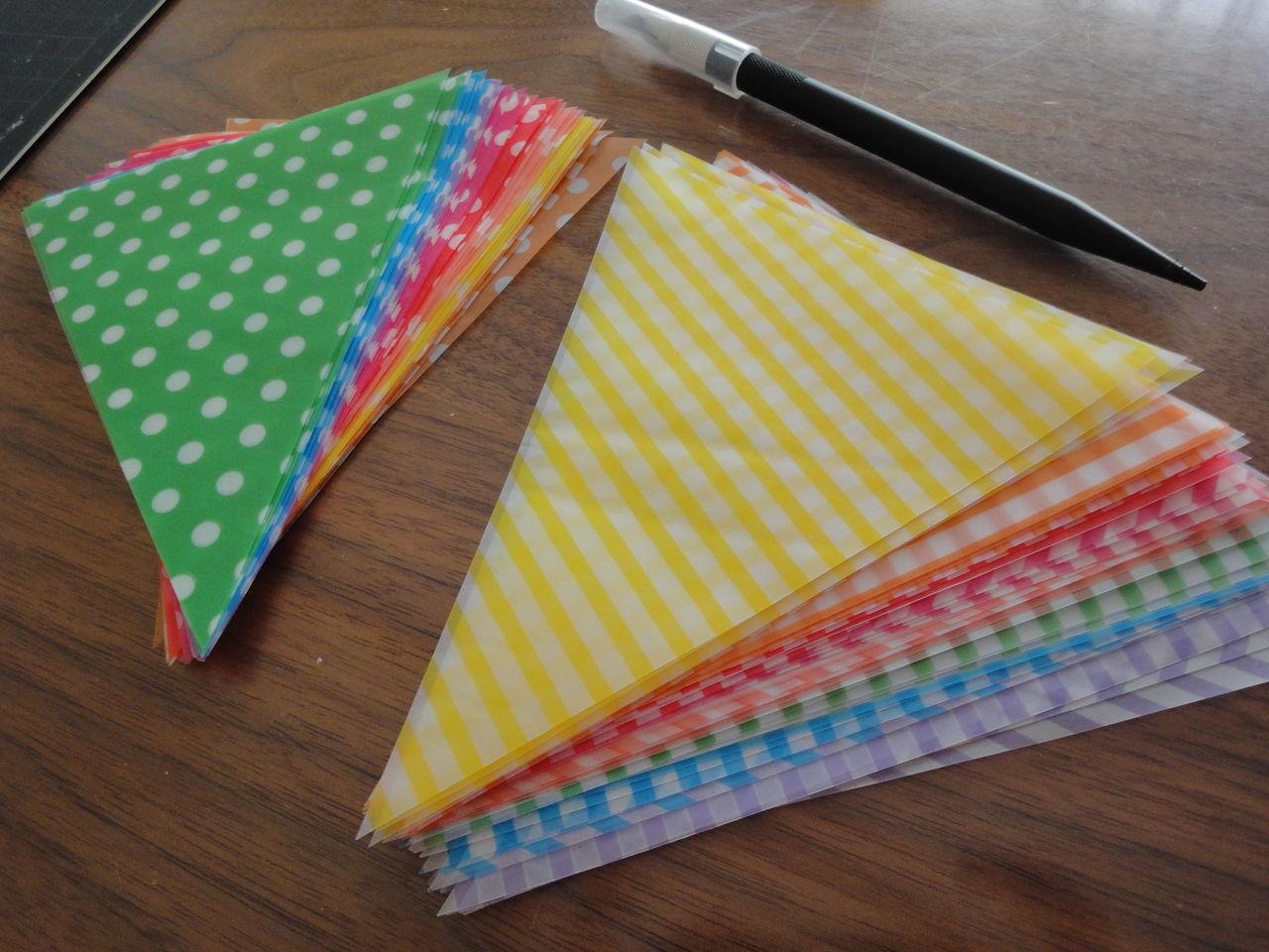 折り紙の いろんな折り紙の作り方 : ドット柄48枚とストライプ柄48 ...