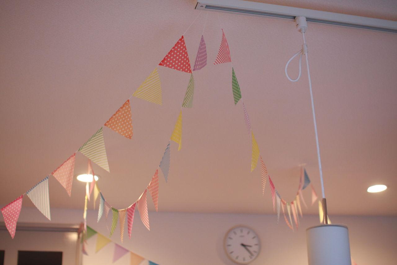 すべての折り紙 パーティー 折り紙 : お部屋がポップで明るい感じに ...