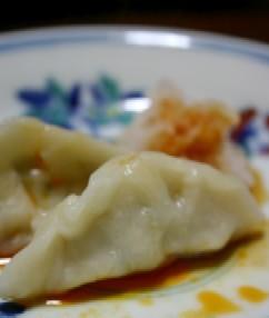 高菜の水餃子