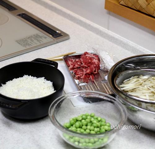 豆ごはん材料