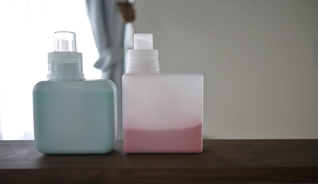 無印は液体×とのことで入れてません。 ピンクは入浴剤です。
