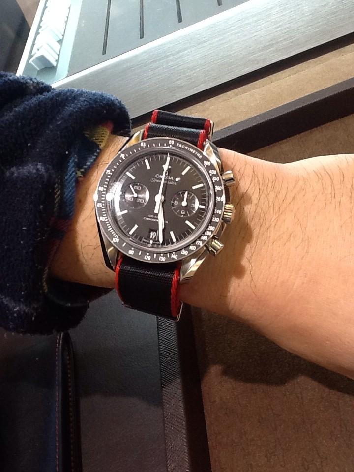 newest c6844 d621d H様のお時計】NATOベルトの相性抜群です。スピードマスター ...