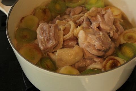 鶏肉と十勝リーキと冬瓜のナツメ煮込